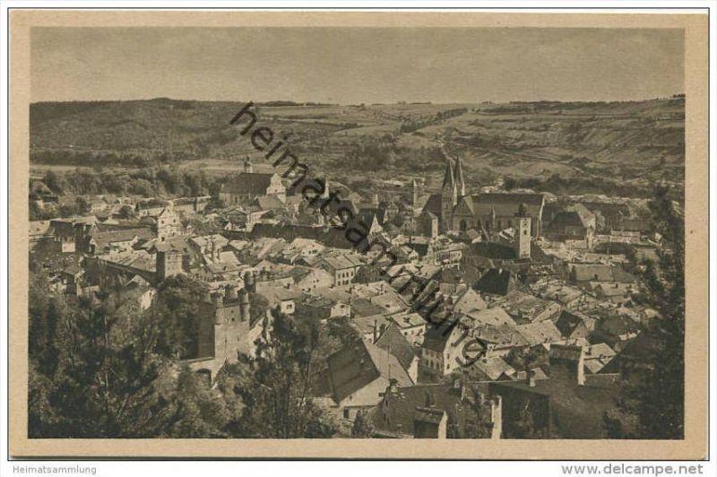 Eichstätt mit Stadtmauer vom Neuen Weg aus gesehen - Verlag der Ph. Brönner'schen Buchhandlung Eichstätt 20er Jahre