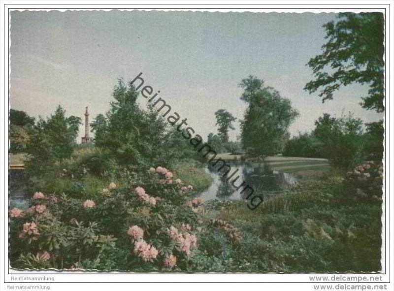 Berlin - Englischer Garten mit Blick auf die Siegessäule - AK Grossformat