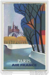 Air France Paris - Caravelle Eröffnungsflug Berlin Frankfurt/M Paris 24. Februar 1960 - Künstlerkarte