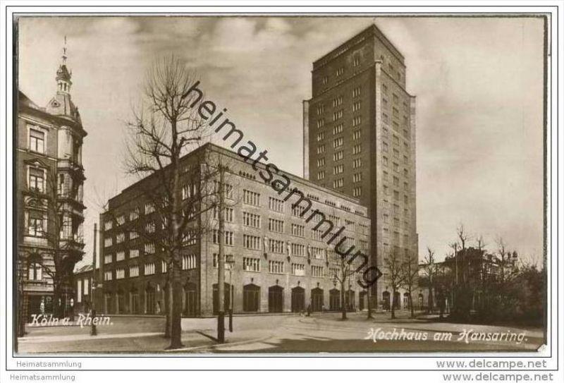 Köln - Hochhaus am Hansaring - Foto-AK 20er Jahre