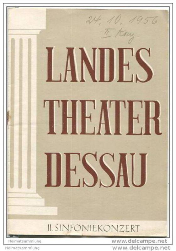 Landestheater Dessau - Spielzeit 1956/57 Nummer 12 - Programmheft II. Sinfoniekonzert