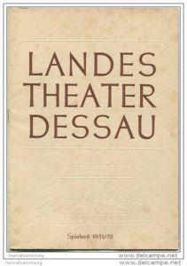 Landestheater Dessau - Spielzeit 1951/52 Nummer 1 - Programmheft Don Giovanni von Wolfgang Amadeus Mozart - Toni Weiler