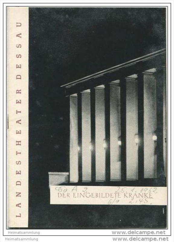 Landestheater Dessau - Spielzeit 1961 Nummer 38 - Der eingebildete Kranke von Molière - Eberhard Kratz