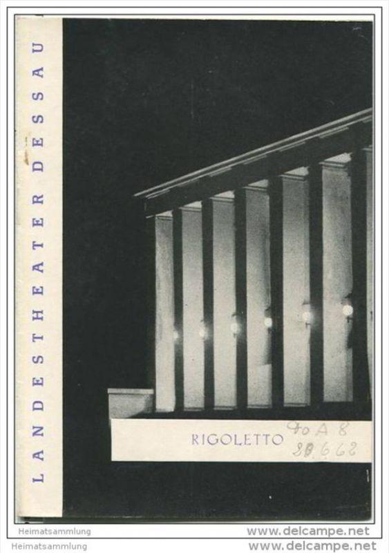 Landestheater Dessau - Spielzeit 1962 Nummer 42 - Rigoletto von Giuseppe Verdi - Reinhard Westhausen