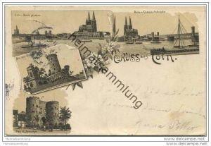 Gruss aus Köln - Eisenbahnbrücke - Hahnenthor - Bahnpost
