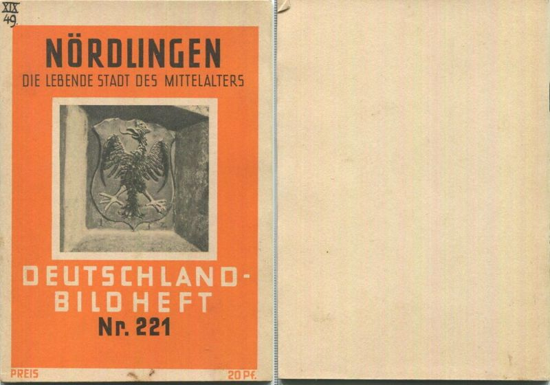 Nr. 221 Deutschland-Bildheft - Nördlingen - Die lebende Stadt des Mittelalters