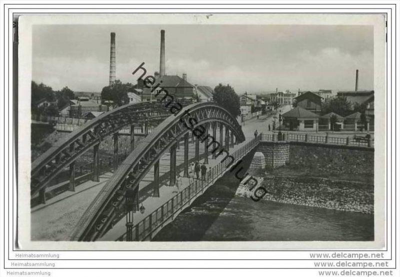 Kromeriz - Kremsier - Brücke - Fotokarte - Deutsche Dienstpost Böhmen-Mähren