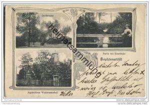16348 Sophienstädt - Dorfstrasse - Jagdschloss - Partie bei Eiserbude