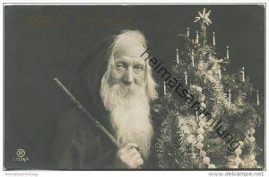 Fröhliche Weihnachten - Weihnachtsmann mit Weihnachtsbaum -  Verlag RPH (Rotophot Berlin) 1236/1 gel. 1908