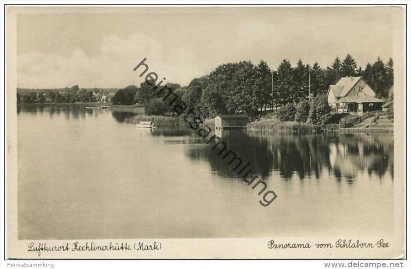 Zechlinerhütte - Panorama vom Schlaborn See - Foto-AK - Verlag Max O'Brien Berlin (E16658)