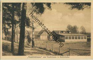 Rehbrücke - Teufelsklause am Teufelssee - Inhaber D. Fürstenau - Verlag Habedank Brandenburg