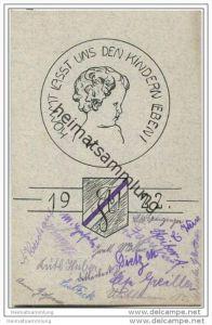 Landshut - Kommt lasst uns den Kindern leben! - Absolvia 1922 - Studentica - diverse Unterschriften