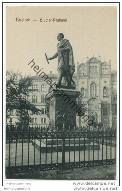 Rostock - Blücher Denkmal