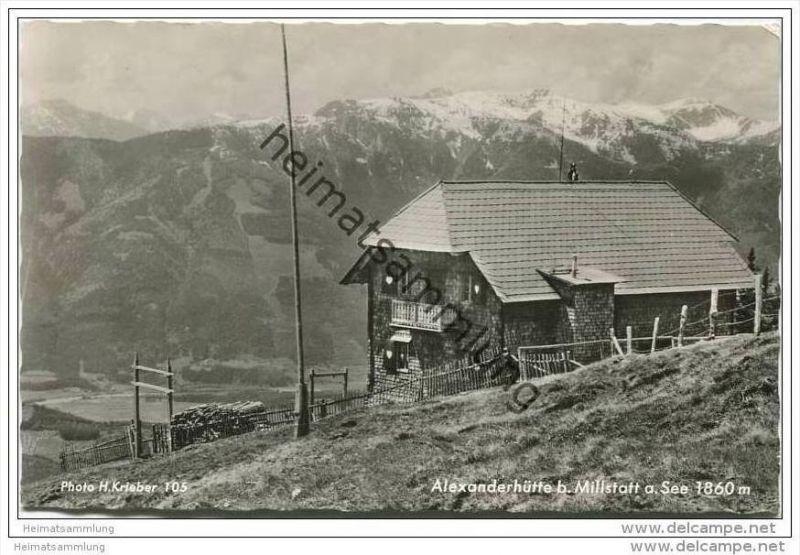 Alexanderhütte bei Millstatt - Foto-AK