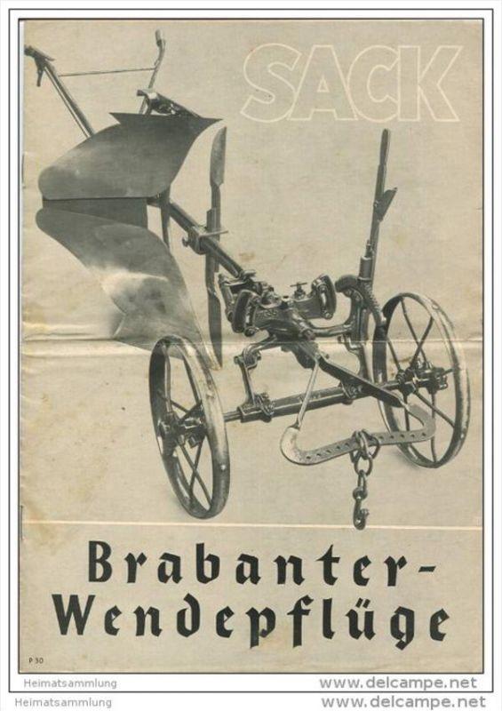 Landmaschinenfabrik Rudolph Sack Leipzig Plagwitz - Brabanter Wendepflüge - 8 Seiten mit 32 Abbildungen 30er Jahre