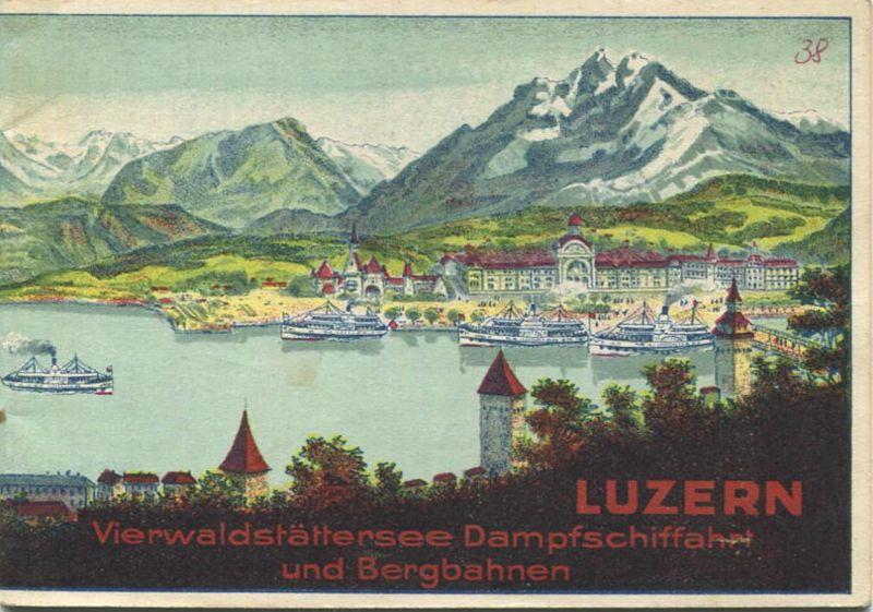 Schweiz - Luzern - Vierwaldstättersee Dampfschiffahrt und Bergbahnen - Fahrplan vom 15. Mai bis 30. September 1926 - 24