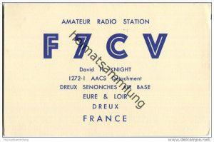 QSL - QTH - Funkkarte - F7CV - France - Dreux Senonches Air Base - 1958