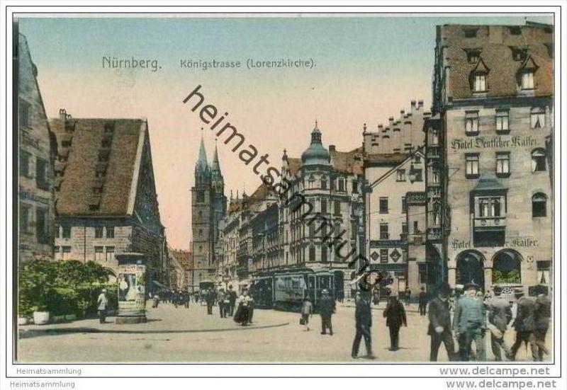Nürnberg - Königstrasse - Lorenzkirche