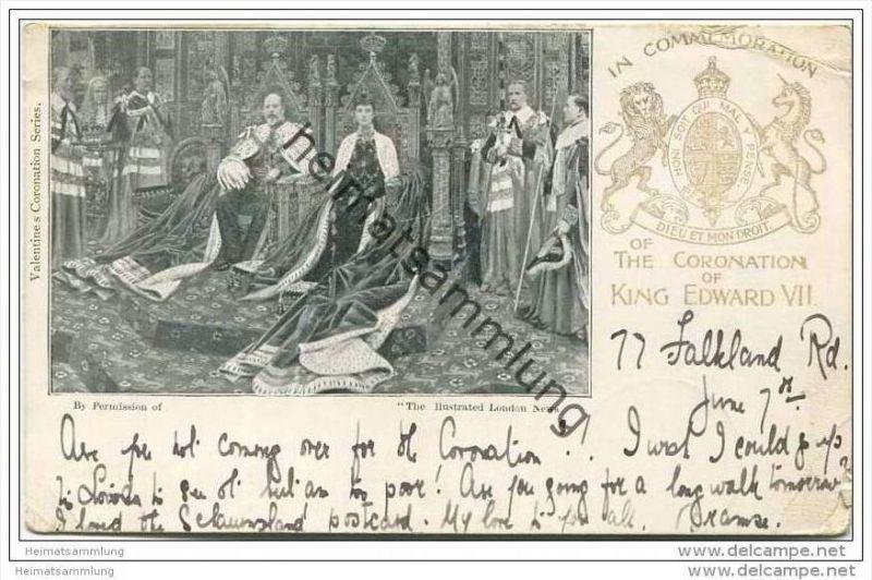 Grossbritannien - Krönung von Edward VII. 1902 - The Coronation of King Edward