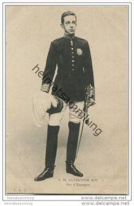S. M. Alphonse XIII Roi d' Espagne - Alfons XIII. - Alfonso XIII - König von Spanien