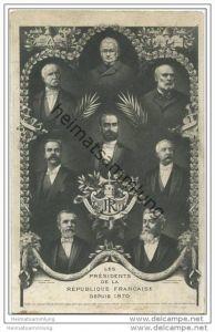 Les Présidents de la Republique Francaise depuis 1870