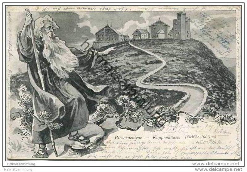 Koppenhäuser - Rübezahl - Gebühr bezahlt Stempel Schreiberhau mit Postmeisterkürzel