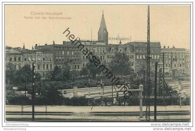 Cüstrin-Neustadt - Partie mit der Bahnhofsstrasse