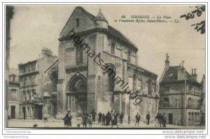Soissons - La Place et l'ancienne Eglise Saint-Pierre - Feldpost