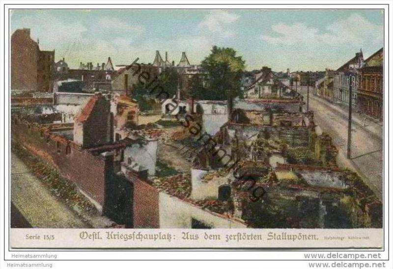 Oestl. Kriegsschauplatz - Aus dem zerstörten Stallupönen - Kriegshilfe München