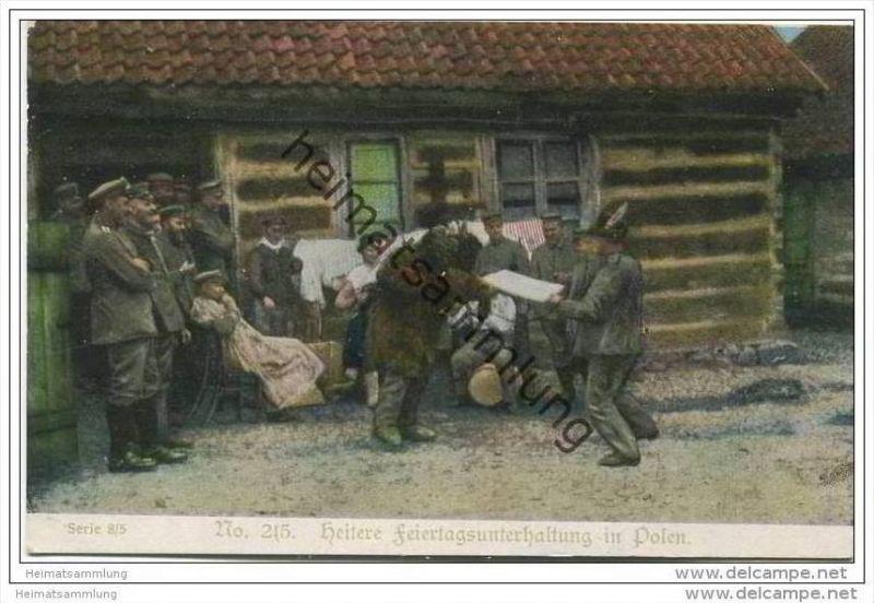 Heitere Feiertagsunterhaltung in Polen - Kriegshilfe München