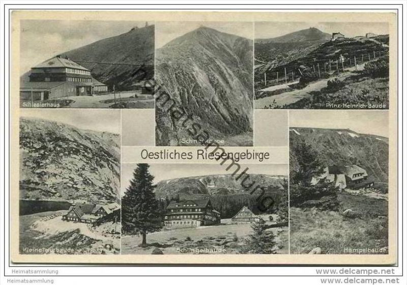 Schlesierhaus - Östliches Riesengebirge - Kleine Teichbaude - Schlingelbaude - Hampelbaude - Prinz-Heinrich-Baude