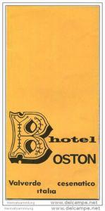 Cesenatico 50er Jahre - Hotel Bosten - Faltblatt mit 5 Abbildungen