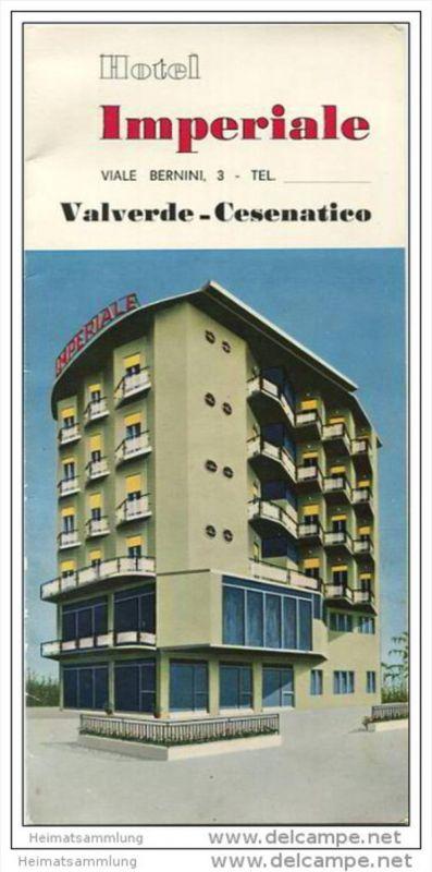 Valverde-Cesenatico - Hotel Imperiale - Faltblatt mit 2 Abbildungen