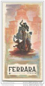 Ferrara - Faltblatt mit 14 Abbildungen