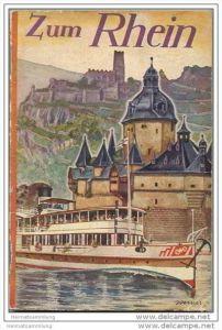 Zum Rhein 1934 - 160 Seiten mit unzähligen Abbildungen - Titelbild signiert Werner - Herausgeber Landesverkehrsverband R