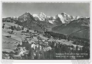 Beatenberg mit Eiger Mönch und Jungfrau - Foto-AK