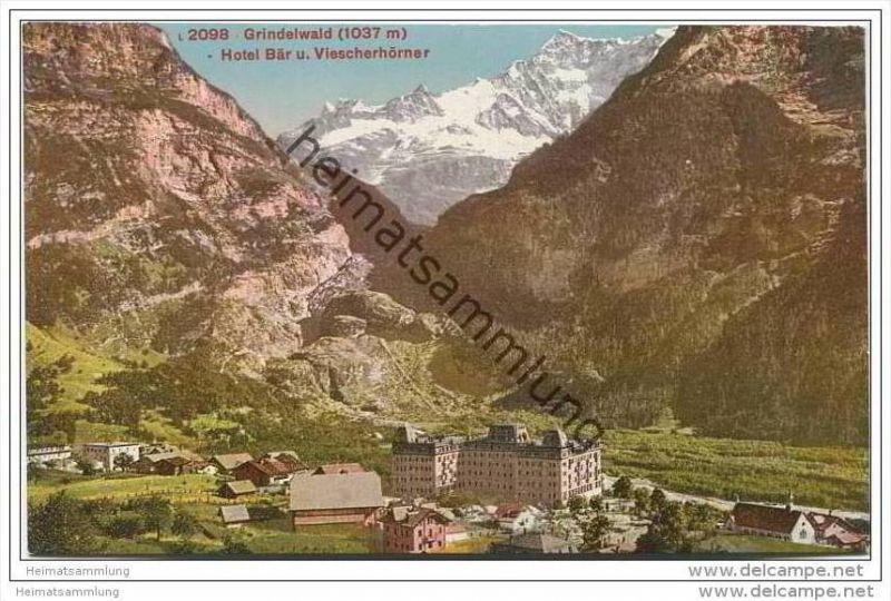 Grindelwald - Hotel Bär und Viescherhörner