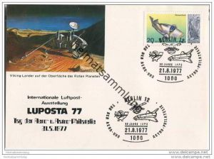Postkarte Berlin - LUPOSTA 77 - Sonderstempel 1977