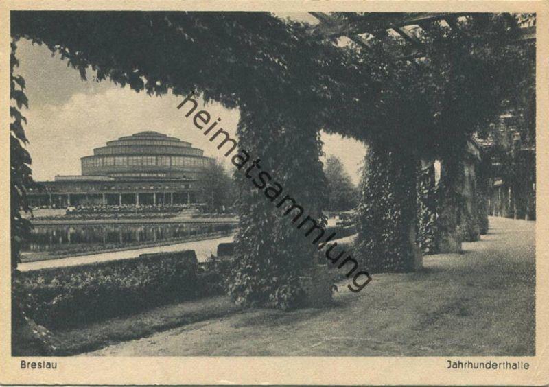 Breslau - Jahrhunderthalle - AK-Grossformat - Verlag Geyer & Co. Breslau