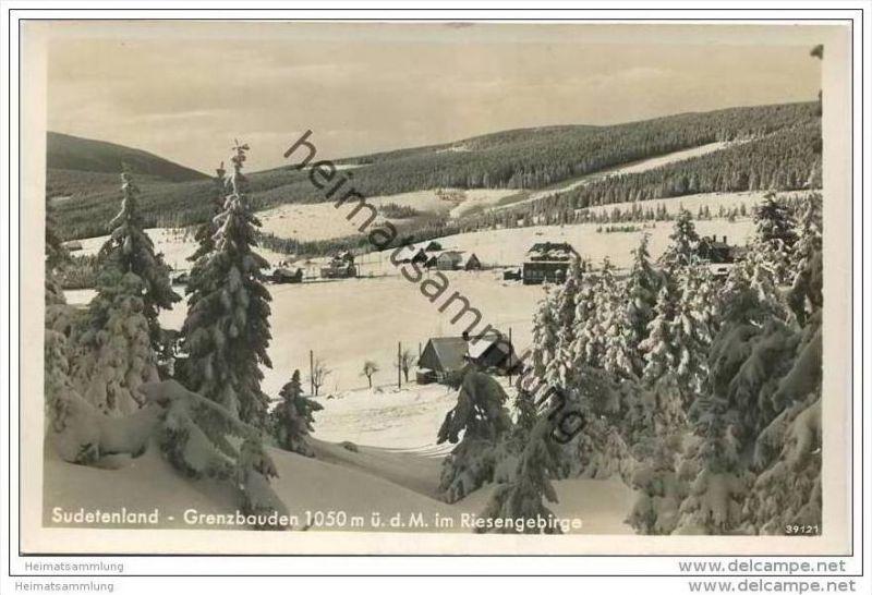 Grenzbauden im Riesengebirge - Foto-AK 30er Jahre 0