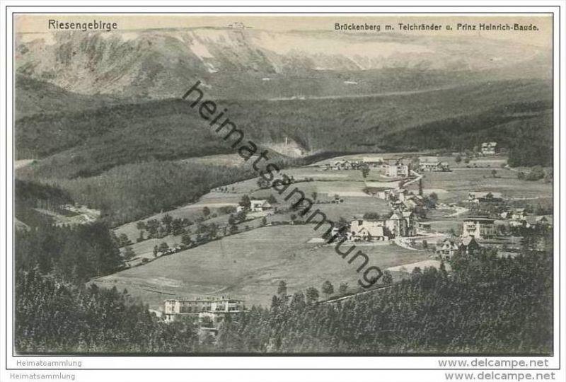 Brückenberg mit Teichränder und Prinz Heinrich-Baude ca. 1910