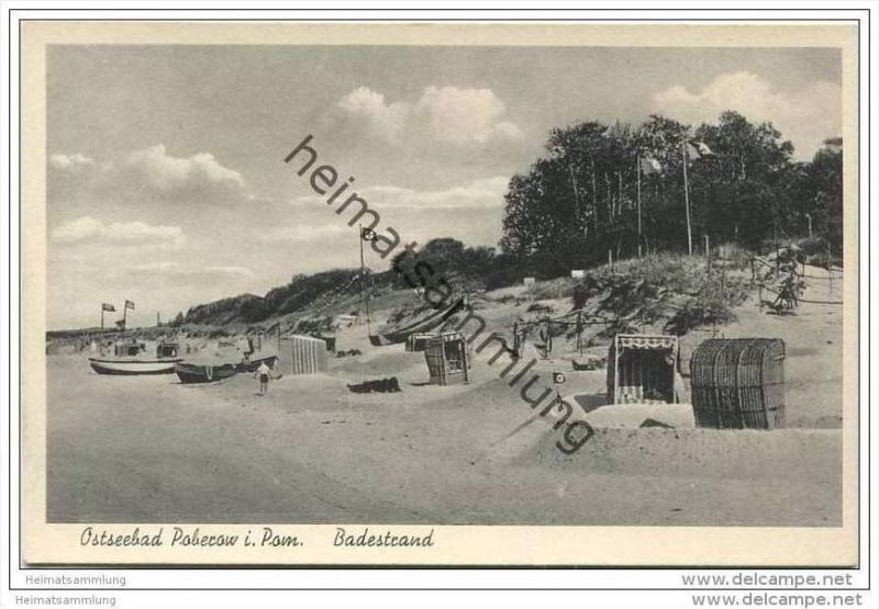 Poberow - Kr. Cammin - Badestrand 40er Jahre