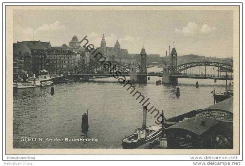 Stettin - An der Baumbrücke 30er Jahre