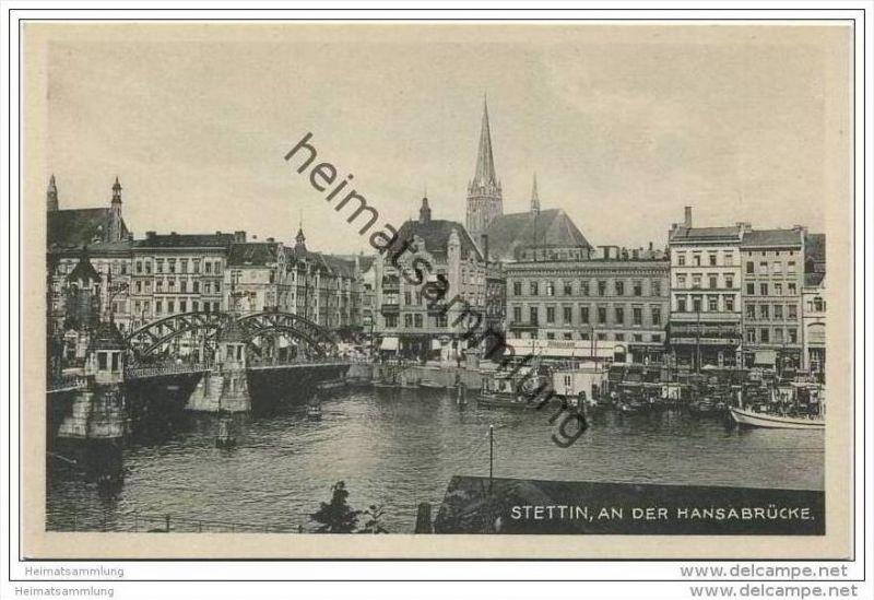 Stettin - An der Hansabrücke 30er Jahre