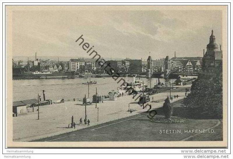 Stettin - Hafenbild 30er Jahre