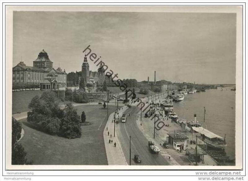 Stettin - An der Hakenterrasse - Foto-AK Grossformat 30er Jahre