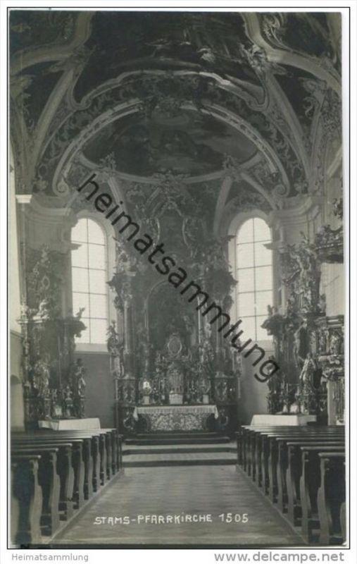 Stams - Pfarrkirche - Foto-AK 1922