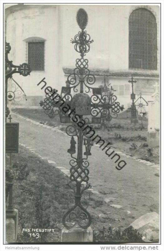Neustift im Stubaital - Kirchhof - Foto-AK 1924