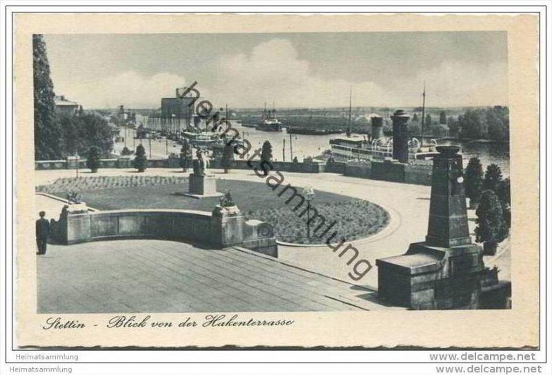 Stettin - Blick von der Hakenterrasse 40er Jahre