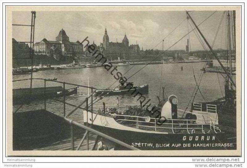 Stettin - Blick auf die Hakenterrasse 30er Jahre